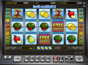 Играть с бонусами в автомат Fruit Cocktail 2